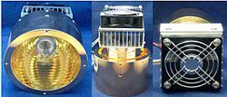 中型大功率鹵素燈點型加熱器 HPH-120A