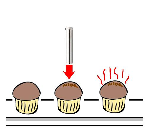 Coloring of the cake baking by the Air Blow Heater