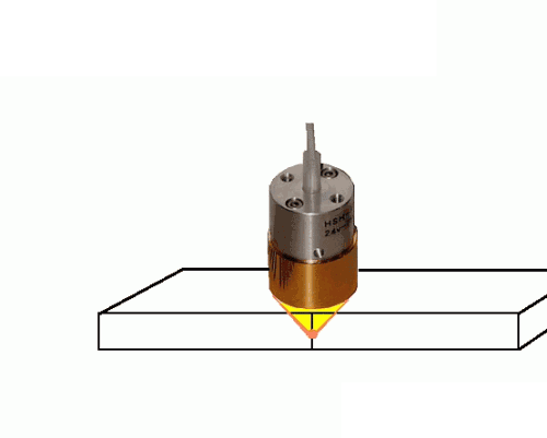 Plastic resin welding by the Halogen Point Heater