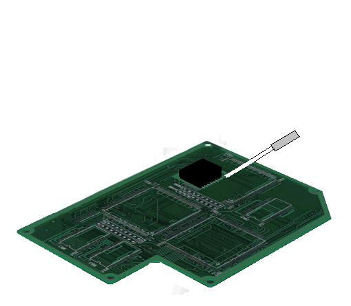 Soldering of printed circuit board   by the Air Blow Heater