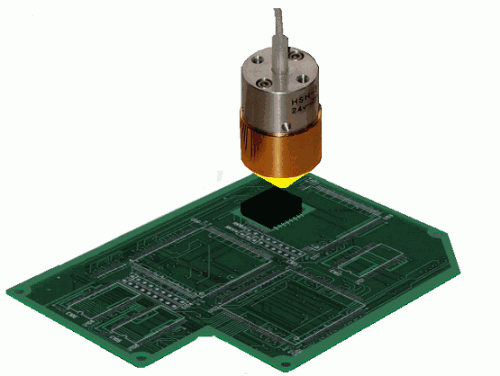 Soldering of printed circuit boards by the Halogen Point Heater