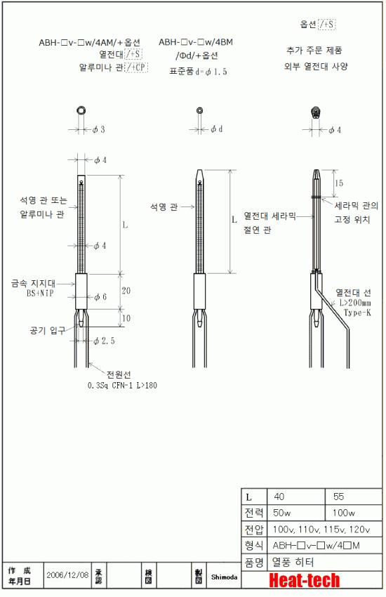 초소형 유리관 / 세라믹 관 외장 ABH-4M