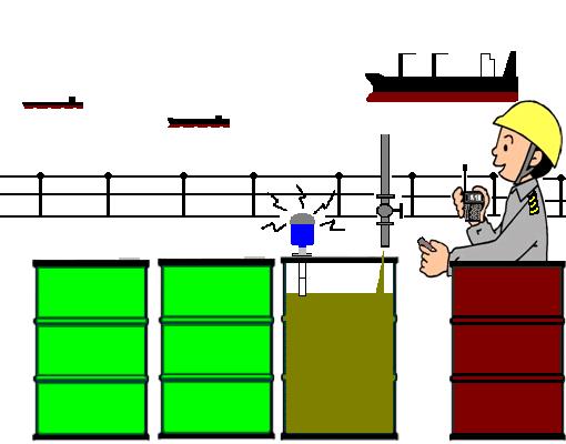 드럼 캔 액면계 의한 제 4 호 선박 폐유의 양륙