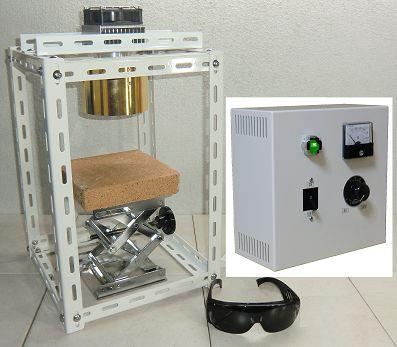 Halogen Point Heater Laboratory-kit HPH-120FA/f45/200v-1kw+HCVD