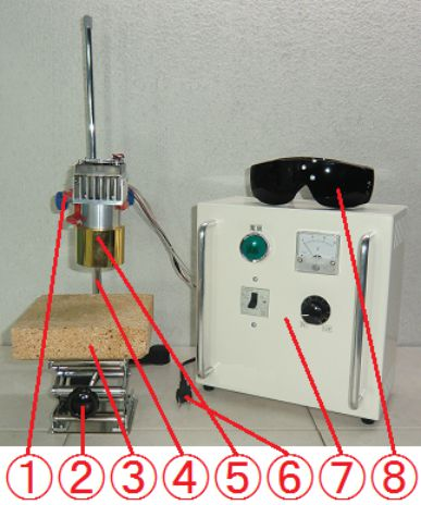 Halogen Point Heater Laboratory-kit HPH-60FA/f30-450w+HCVD