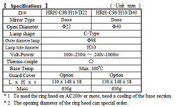 Halogen Ring Heater Specification