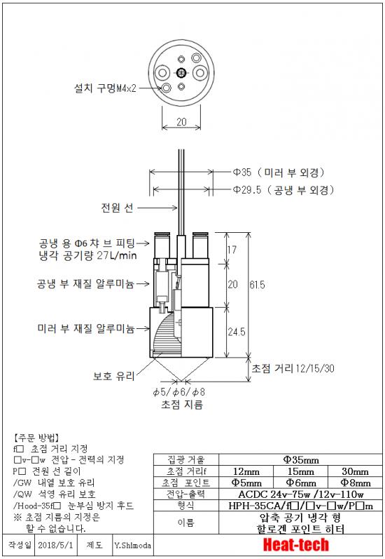 HPH-35의 외형도