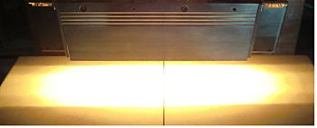 HLH-60A high performance plane heating air-cooled parallel beam type Halogen Line Heater