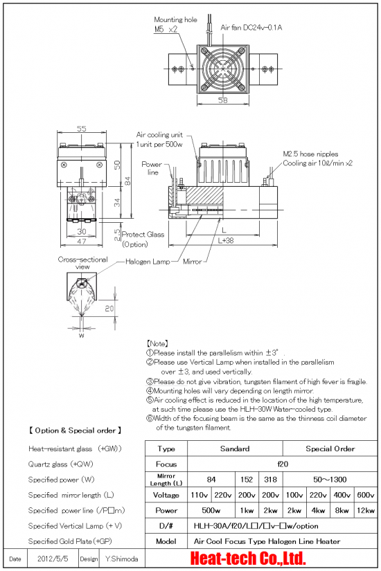 9.Outline drawing of HLH-30