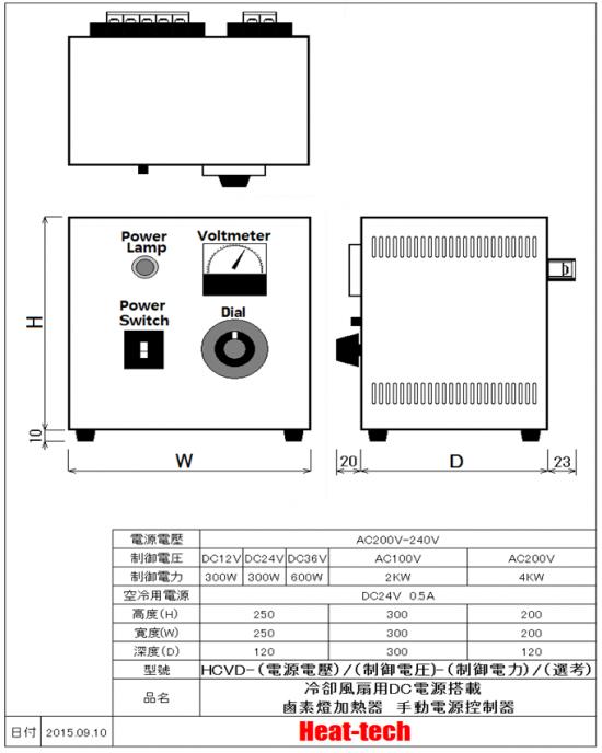 空冷式鹵素燈點型加熱器 HPH-120A