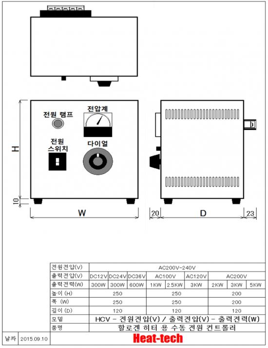 소형 할로겐 포인트 히터 HPH-30