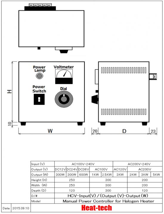 소형 할로겐 포인트 히터 HPH-35