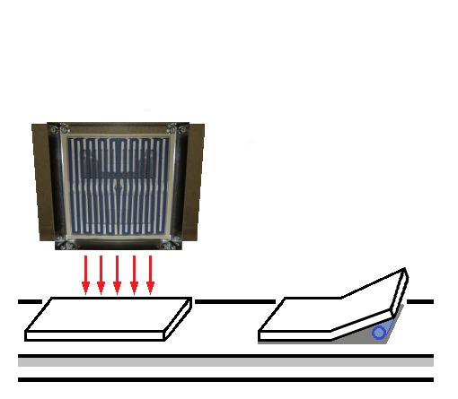 적외선 패널 히터 의한제 15 호 액정 용 커버 유리의 가열