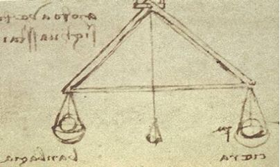 The hygrometer using the balance which Leonardo da Vinci considered