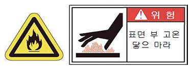 할로겐 램프의베이스 부 램프 부등는 통전 중 및 통전 직후에는 매우 고온이됩니다.