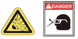 In order to avoid this risk has been designed so that there is no danger to the human body, such as a fire or even explode. Please use the instrument under the conditions.  Also, please insert the appropriate FUSE fast blow to the power line.