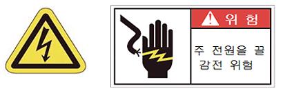 램프 교체시 전원이 OFF되어 있는지 반드시 확인하십시오.