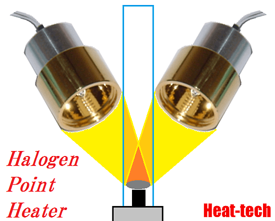 Heat source of CVD Reactor Using Concerntrated Infrared Heater by the Halogen Point Heater
