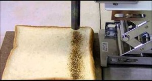 Hot-air heating of the Bread