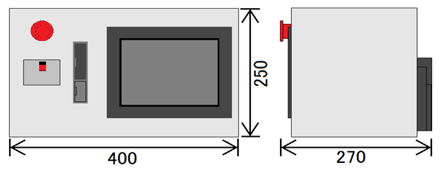 SSC Standard type External dimensions
