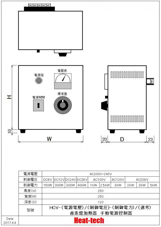 冷卻風扇用電源搭載型 HCVD