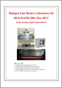 Halogen Line Heater Lab-kit HLH-55A+HCV