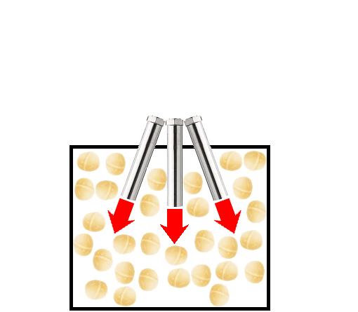 Hot air roasting of Macadamia nuts