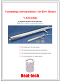 Vacuuming correspondence Air Blow Heater VAH English