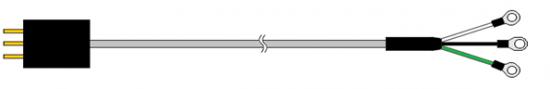 加熱控制器的電源電纜的概要