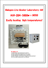 Halogen Line Heater Lab-kit HLH-35A+HCVD