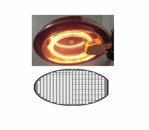 Dryness of the silicon wafer by the Halogen Ring Heater