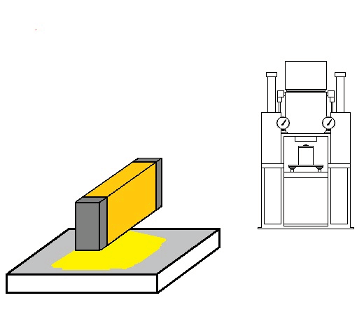 No.46 Drying and preheating of powder metal  by the Halogen Line Heater