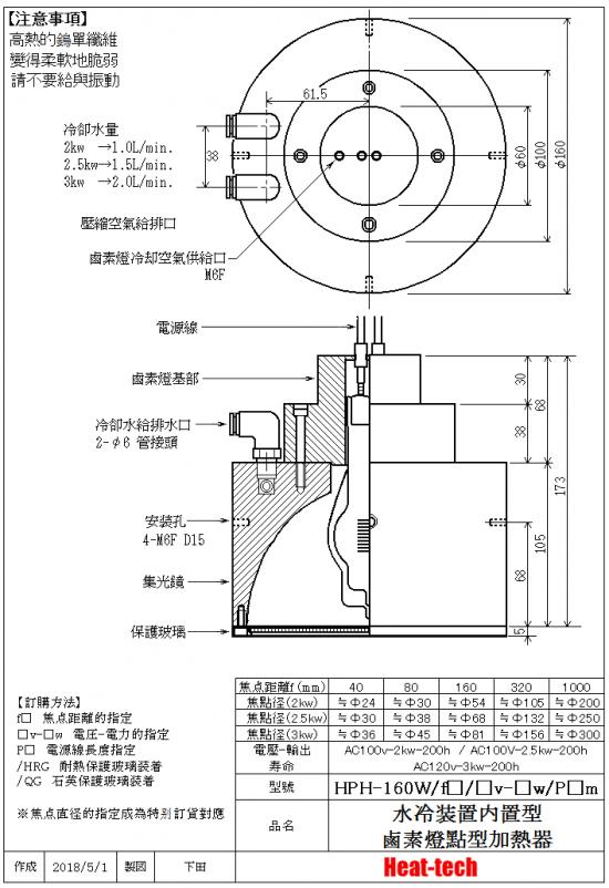 HPH-160的外形圖