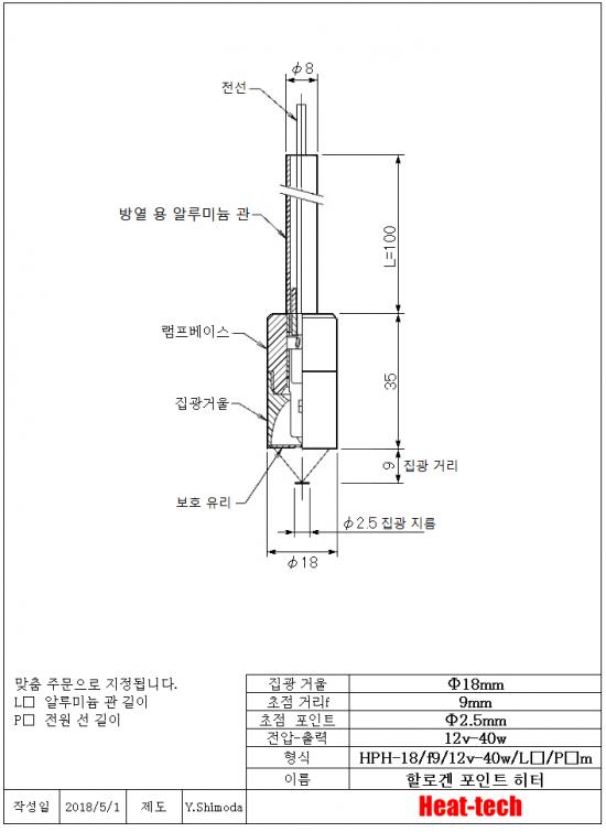 8.HPH-18의 외형도