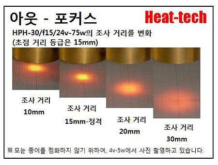 HPH-30의 초점 거리와 초점 지름