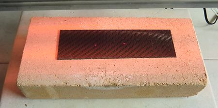 Heating of carbon fiber sheet