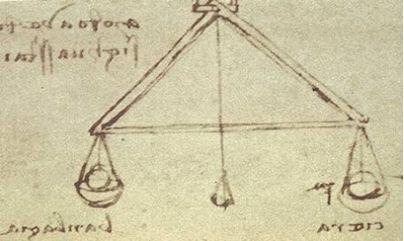 레오나르도 다빈치가 생각한 천평을 이용한 습도계