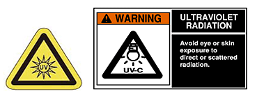 The light of the halogen lamp includes harmful ultraviolet radiation, while trace.