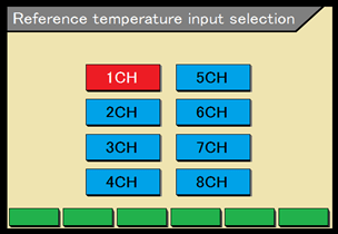 Reference temperature input selection function