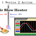 Temperature drift test of electronic device by the Air Blow Heater - Profile-maker SSC series