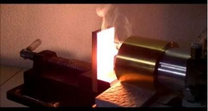 Heating of wood series 2 Japanese cedar Sugi - Best Applications the Halogen Point Heater
