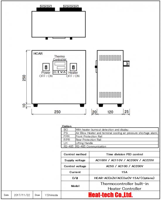 Down Voltage Regulatorr type HCAR