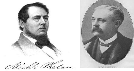 페란 앤 코렌다 사의 동업자 마이클 페랑 (Michael Phelan April 18, 1819 - October 7, 1871)와 휴고 W · 코렌다 (Hugh William Collender December 23, 1828 - April 1,