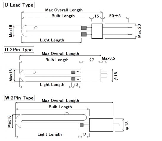 Cold cathode U tube LHGU / LHGW series