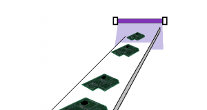 UV surface modification of the resin printed board