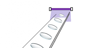 Glass lens ultraviolet (UV) cleaning