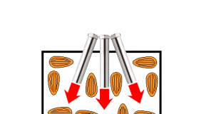 Hot air roasting of Almond nuts