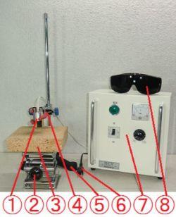 鹵素燈點型加熱器 實驗室配套元件 HPH-35FA/f15-110w+HCV
