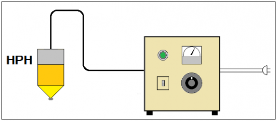 진공 챔버 대응 할로겐 포인트 히터 HPH-80 시리즈
