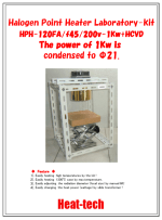 Halogen Point Heater Laboratory-kit HPH-120FA/f45/200v-1kw+HCVD
